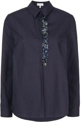 DELPOZO Paillette-Embellished Poplin Shirt
