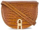 Embossed Crocodile Saddle Bag