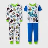 Star Wars Toddler Boys' 4pc Cotton Pajama Set - White