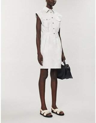 Pinko Savarin leather mini dress