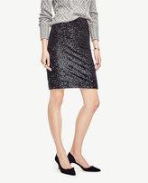 Ann Taylor Curvy Sequin Pencil Skirt