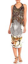 save the queen Southwest Print Halter Cover-Up Dress