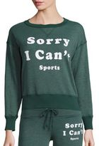 Wildfox Couture Sorry I Can't Jewelneck Sweatshirt