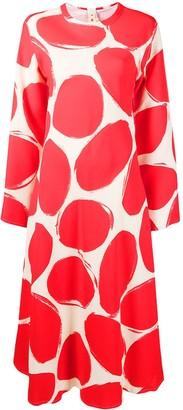 Marni Abstract-Print Long-Sleeve Dress