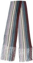 Missoni Fringed Multicolor Knit Mini Scarf
