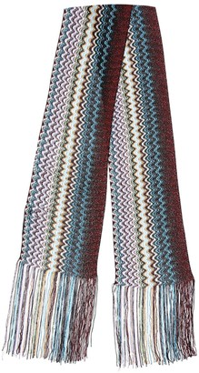 Missoni Fringed Multicolor Knit Mini Scarf