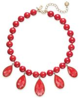 Kate Spade Gold-Tone Cubic Zirconia & Colored Stone Beaded Necklace