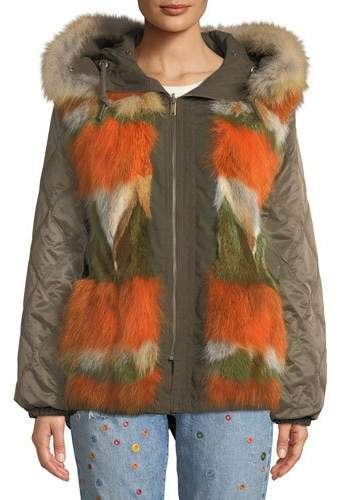 Moose Knuckles St. Fabien Reversible Jacket w/ Fur Trim