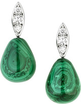 Jan Logan 18ct Diamond Malachite Raindrop Earrings