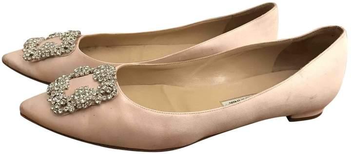 Manolo Blahnik Cloth Ballet Flats