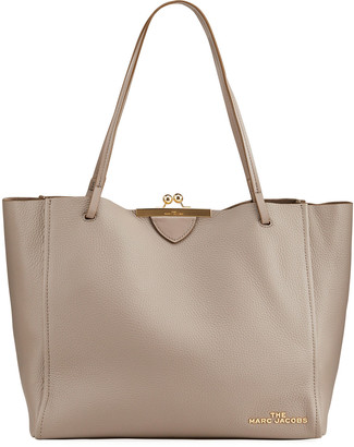 Marc Jacobs Kiss-Lock Leather Tote Bag