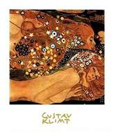 Gustav 1art1 Posters Klimt Poster Art Print - Rough Water (12 x 9 inches)