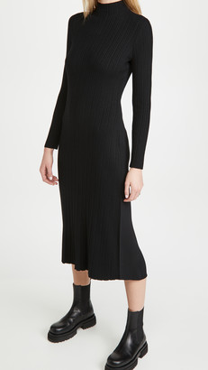 Vince Variegated Rib Turtleneck Dress