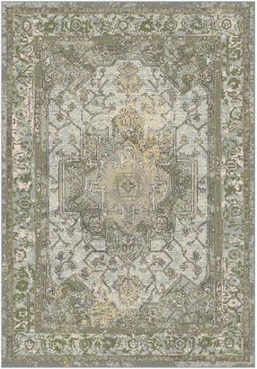"Dynamic Rugs Horizon 988465 Vintage/Distressed Rug, Gray/Green, 6'7""x9"