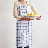 Sur La Table Checkered Linen Kitchen Apron