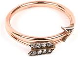 Annina Vogel 9 carat rose gold and diamond arrow ring
