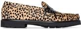 cheetah print Weejun 90 Larson loafers