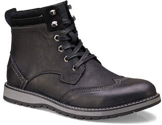 Members Only Men's Casual boots BLACK - Black Wingtip-Toe Legacy Leather Boot - Men