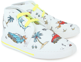Stella McCartney High Top Canvas Trainers with 50s Print