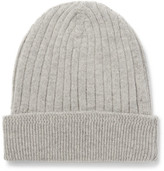 Tom Ford Ribbed-knit Cashmere Beanie - Gray