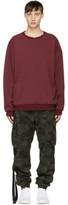 Unravel Reversible Burgundy Panel Sweatshirt