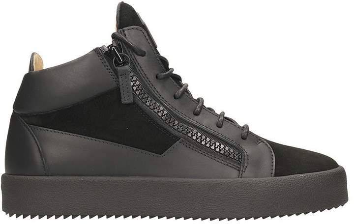 Giuseppe Zanotti Kriss Black Leather Low Top Sneakers