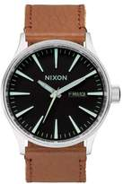 Nixon Women's The Sentry Leather Strap Watch, 42mm
