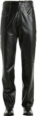 Vejas Leather Pants W/ Contrasting Stitching