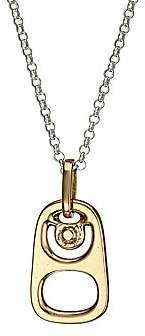 King Baby Studio Men's Pop Top Goldplated Sterling Silver Pendant Necklace