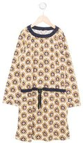 Bonpoint Girls' Printed Long Sleeve Dress