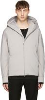 Attachment Grey Down Short Jacket