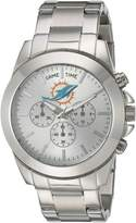 Game Time Women's NFL-TBY-MIA Knock-Out Analog Display Japanese Quartz Silver Watch