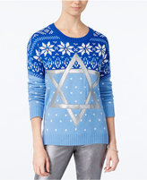 Hooked Up by IOT Juniors' Star Of David Holiday Sweater