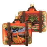 Nordstrom Handblown Glass Travel Suitcase Ornament