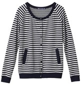 Petit Bateau Womens striped tube knit cardigan