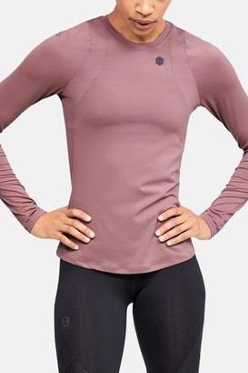 Under Armour Rush Long Sleeve Pink Top - L