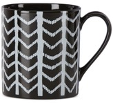 Lenox Around The Table Collection Stoneware Black Chevron Mug