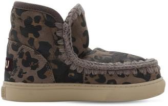 Mou Leo Print Eskimo Shearling Ankle Boots