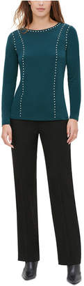 Calvin Klein Studded Long-Sleeve Top