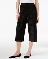 NY Collection Petite Crinkled Culotte Pants