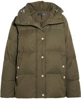 Rag & Bone Leonard Lace-up Hooded Quilted Shell Down Jacket - Green
