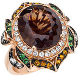 LeVian 14Kt. Strawberry Gold Smoky Quartz and Multi Stone Ring