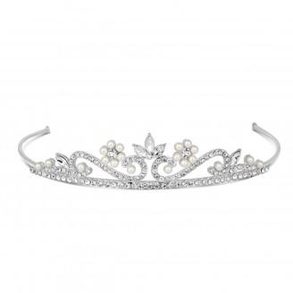 Jon Richard Jewellery Childs pearl and crystal flower tiara