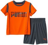 Puma Boys 4-7 Contrast Stitch Tee & Shorts Set