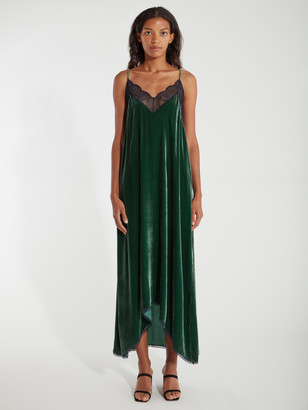 Zadig & Voltaire Risty Velvet Maxi Slip Dress