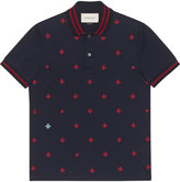 Gucci Cotton polo with bees and stars - men - Cotton/Spandex/Elastane - L