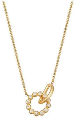 Astley Clarke Gold Vermeil Stilla Arc White Sapphire Interlocking Pendant Necklace