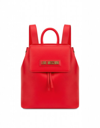 Love Moschino Backpack With Lettering Logo Woman Red Size U It - (one Size Us)