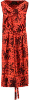 Vivienne Westwood Draped Printed Crepe Dress