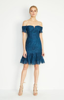 Nicole Miller Oscar Scalloped Lace Dress